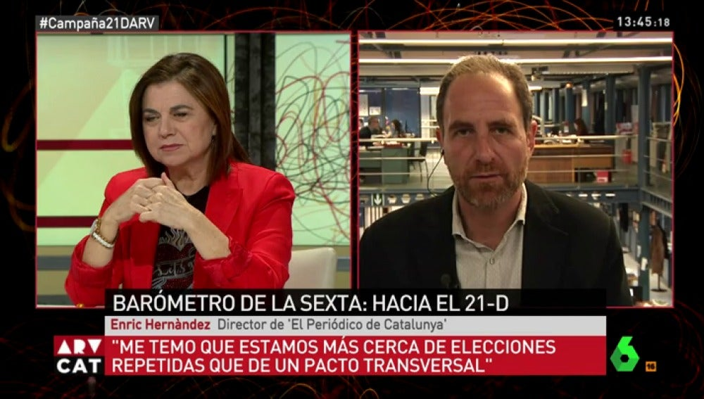 Enric Hernàndez y Lucía Méndez