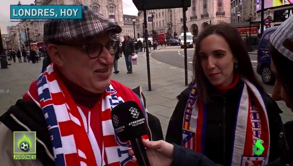 """La afición del Atlético ya inunda las calles de Londres: """"¿Por qué no vamos a creer?"""""""