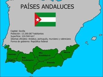"""Mapa de los """"países andaluces"""" según la ANA"""