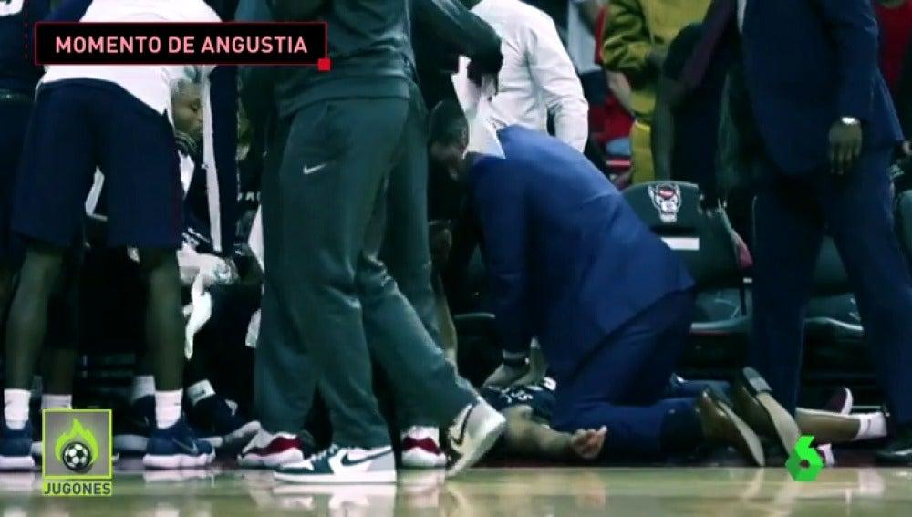 Un jugador sufre un infarto y se desploma en pleno partido de la liga universitaria americana