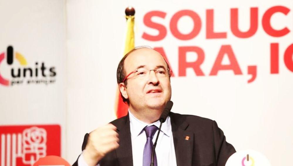 El candidato del PSC a las elecciones catalanas del 21D, Miquel Iceta