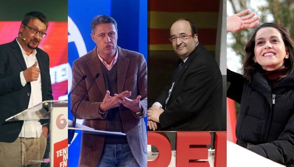 Domènech, Albiol, Iceta y Arrimadas en actos de campaña electoral