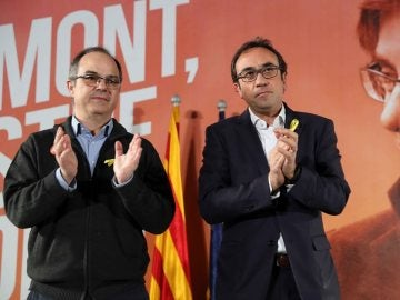 Los exconsellers Jordi Turull y Josep Rull