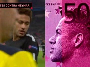 Billetes de 500 euros contra Neymar