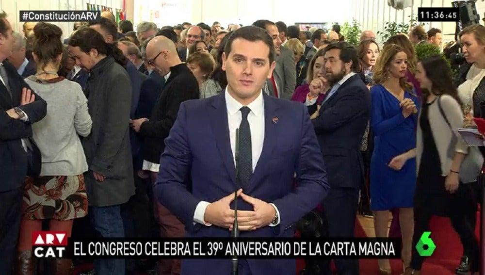 Albert Rivera en los actos de conmemoración del 39 aniversario de la Constitución