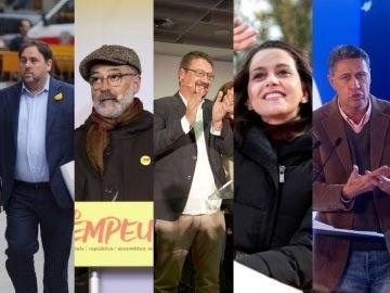 Candidatos a las elecciones catalanas del 21D
