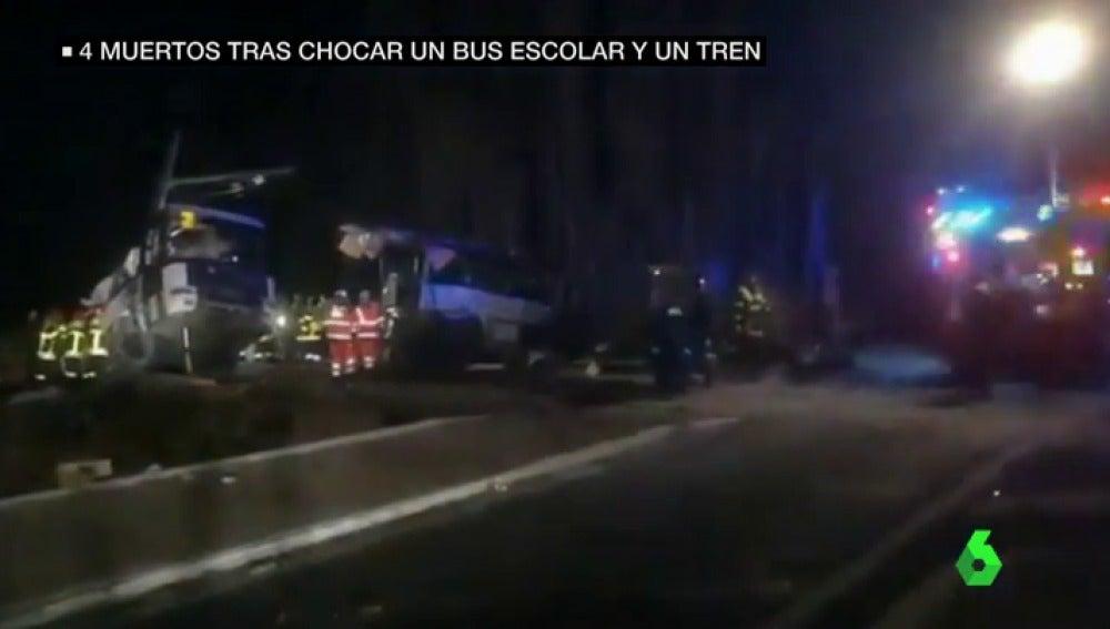 Al menos cuatro adolescentes muertos tras chocar un autobús escolar y un tren al sur de Francia