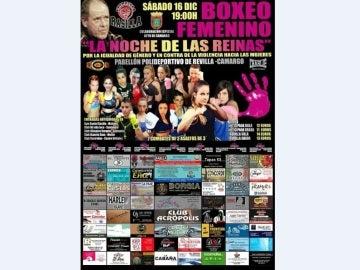 Cartel de la gala contra la violencia machista en Camargo