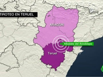 Tres muertos, dos de ellos guardias civiles, en un tiroteo en un pueblo de Teruel