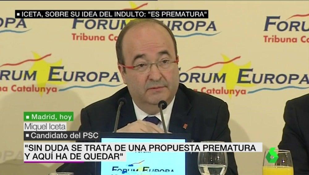Miquel Iceta, candidato del PSC