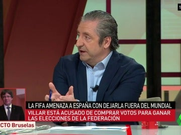 Josep Pedrerol en el plató de Al Rojo Vivo