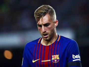Gerard Deulofeu, en un partido del Barcelona