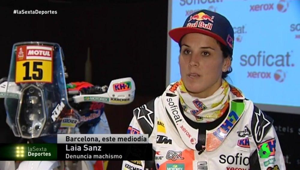"""Laia Sanz responde al director del Dakar: """"Yo molesto más que si por delante queda un piloto chico"""""""