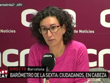 Marta Rovira en rueda de prensa