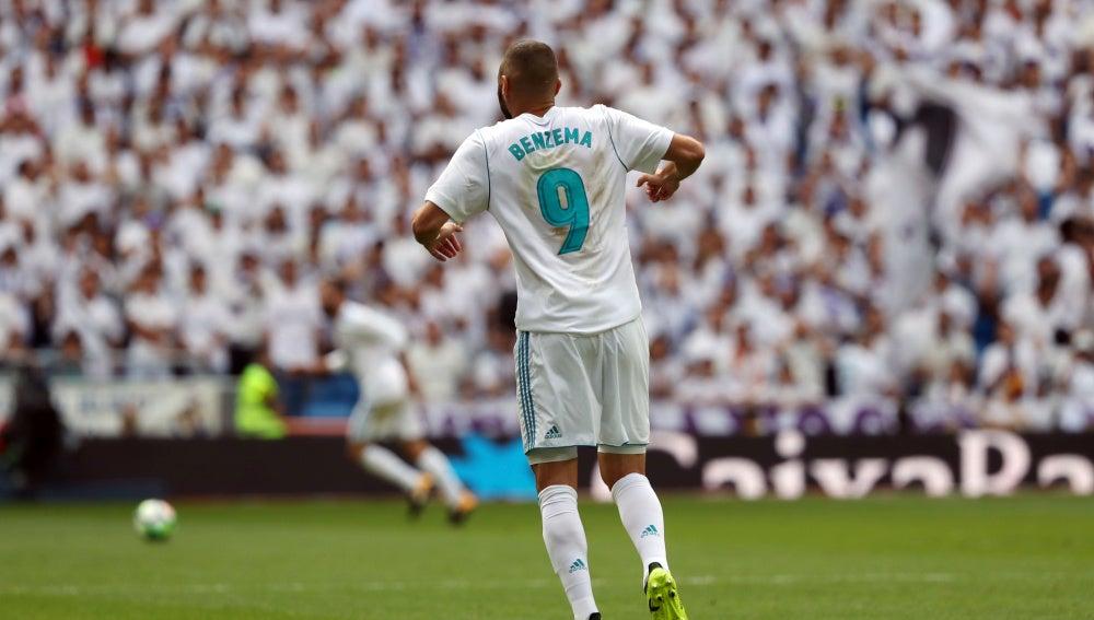 Benzema, durante un partido