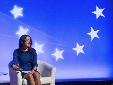 La candidata de la formación naranja a la presidencia de la generalitat, Inés Arrimadas