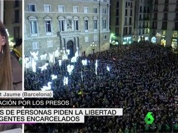 Centenares de personas piden la libertad de los dirigentes encarcelados