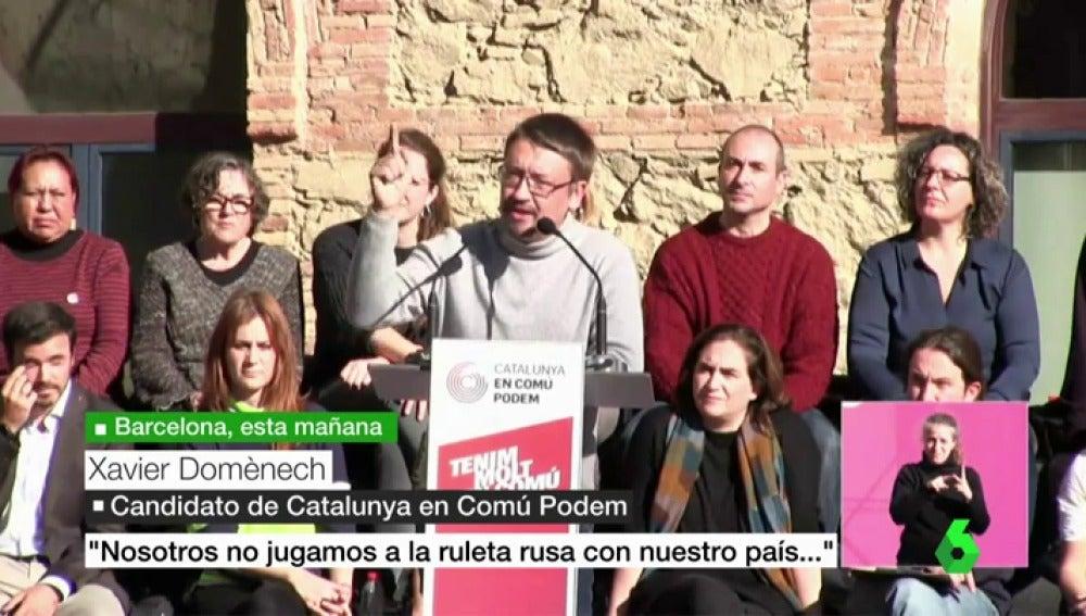 El candidato de Catalunya en Comú Podem, Xavier Domènech