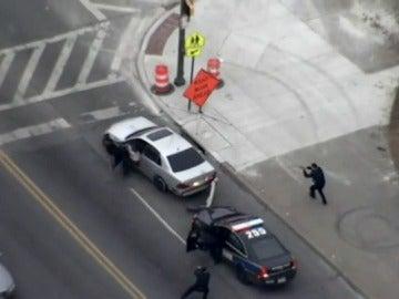 Persecución con disparos en Baltimore