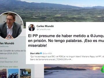El perfil de Twitter de Carles Mundó