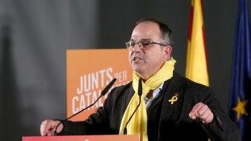 El exconseller Jordi Turull interviene en el mitin de Junts per Catalunya en Tarragona