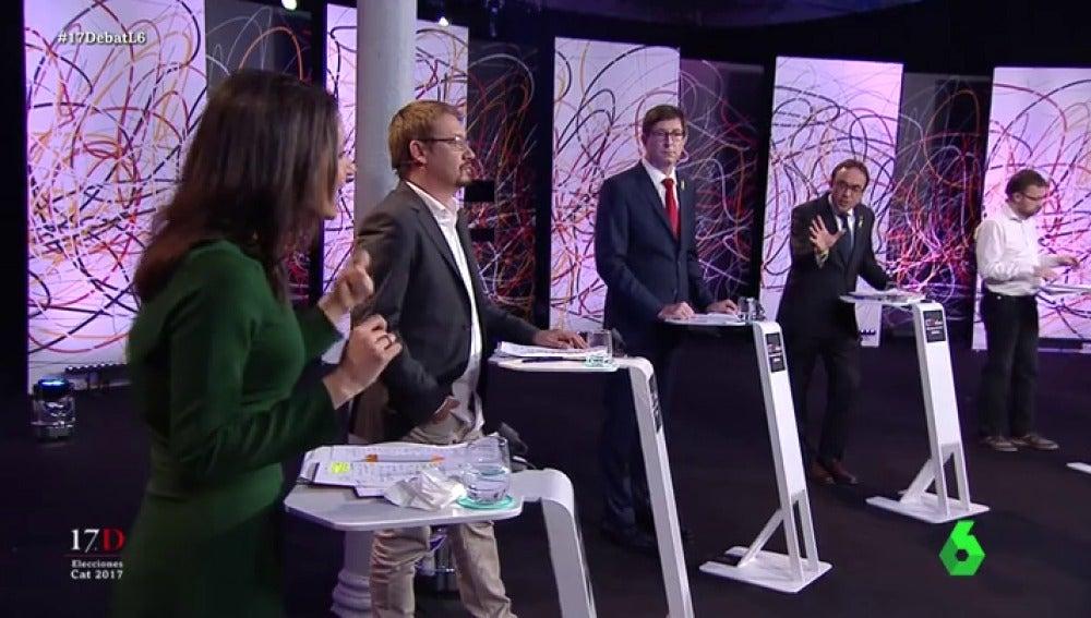 El rifirrafe de Arrimadas con Josep Rull y Carles Mundó en 'El Debat'