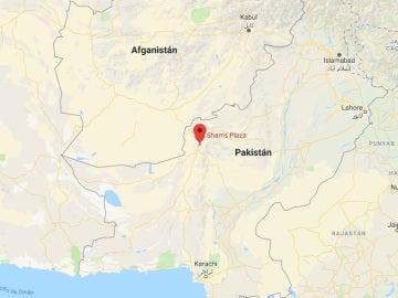 Lugar del ataque contra una iglesia metodista en la ciudad de Quetta, en el oeste de Pakistán