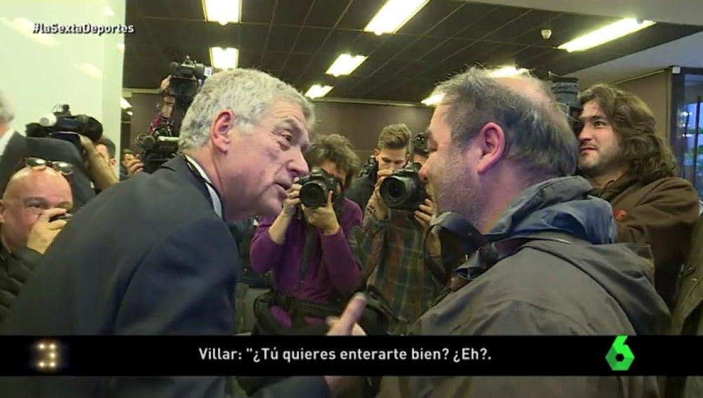 Los momentos más tensos de la rueda de prensa de Villar