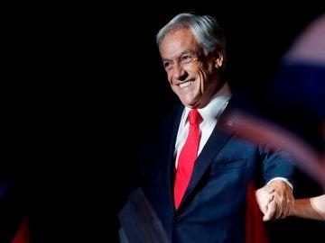 Sebastián Piñera celebrando su victoria electoral