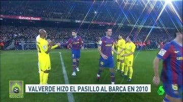 Valverde sí le hizo el pasillo al Barcelona en 2010
