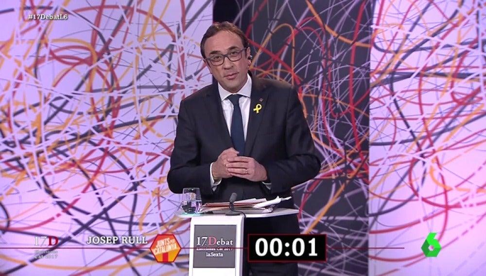 El minuto final de Josep Rull en 'El Debat'