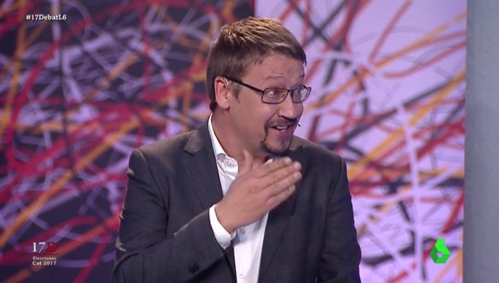 """Domènech, a Rull (JxCAT): """"Ustedes tienen que estar fuera de prisión pero no pueden estar en el futuro gobierno"""""""