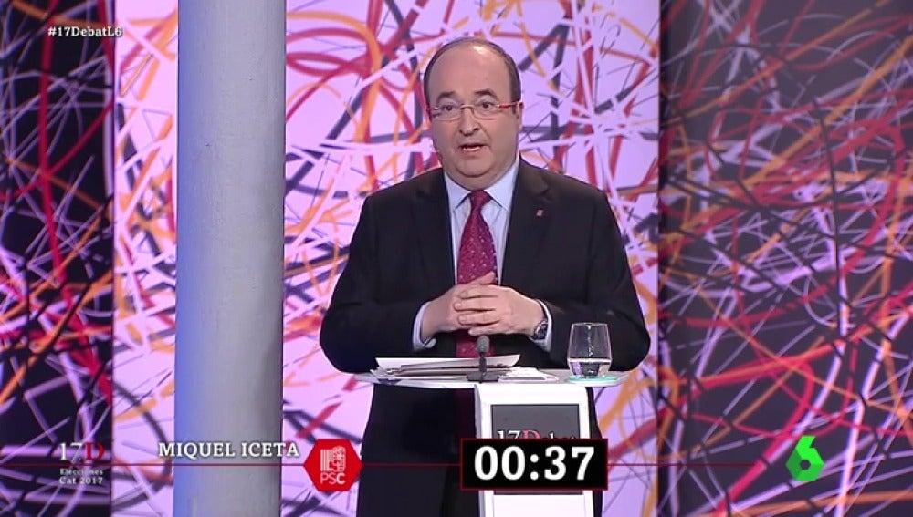 """El minuto final de Miquel Iceta en 'El Debat': """"O seguimos el camino del desastre independentista el 21D o abrimos el rumbo de la reconciliación"""""""