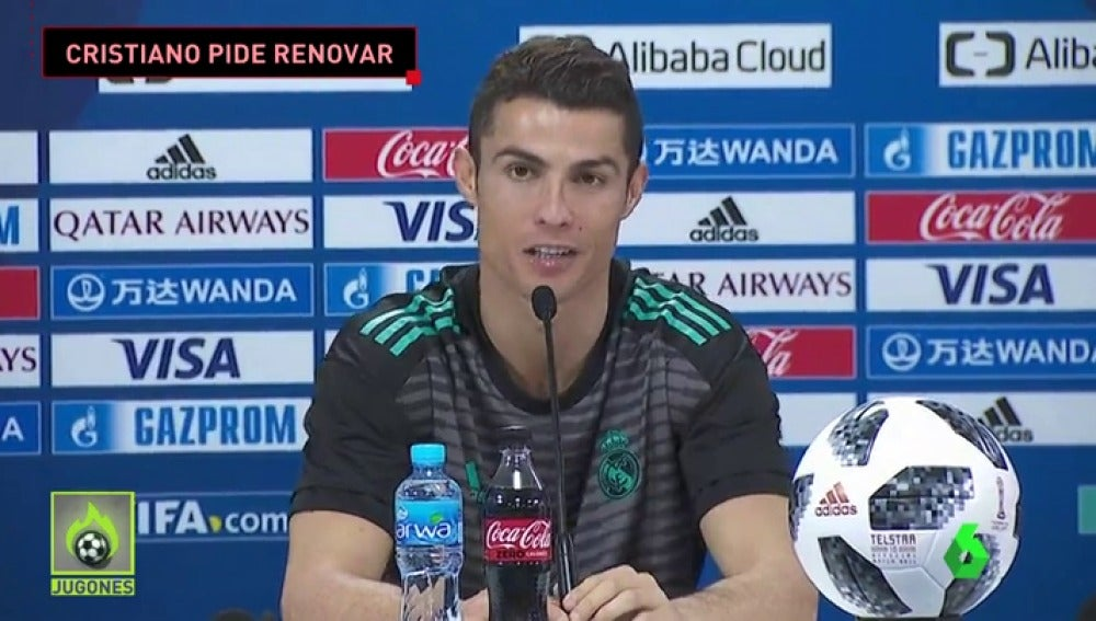 """Cristiano Ronaldo pide renovar con el Real Madrid: """"Me gustaría mucho...si es posible..."""""""