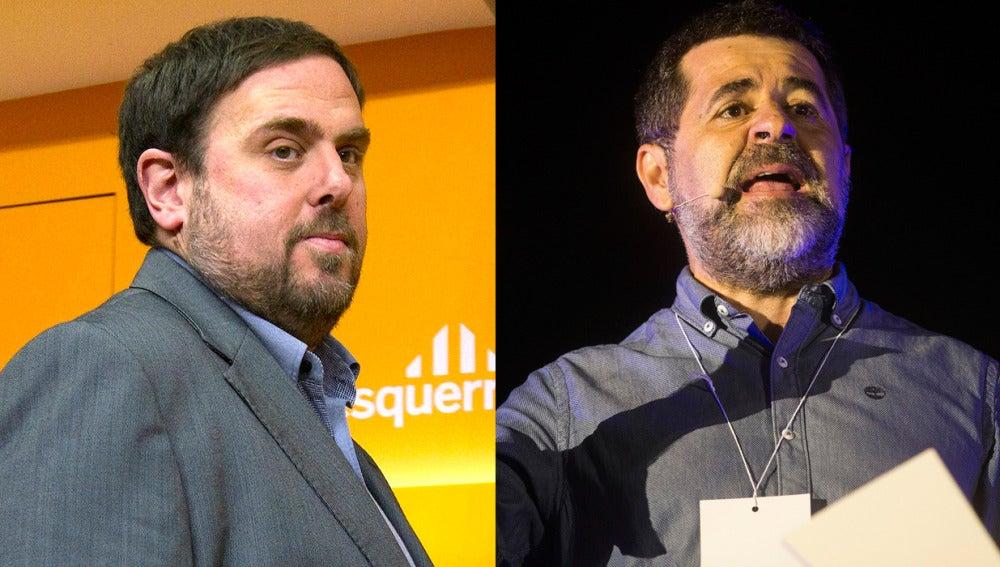 Oriol Junqueras y Jordi Sánchez