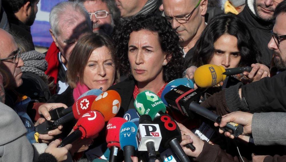 Marta Rovira ante los medios