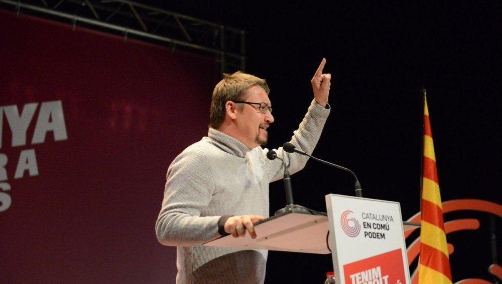 El candidato de Catalunya en Comú-Podem, Xavier Domènech