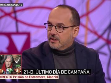 Carles Campuzano en el plató de ARV