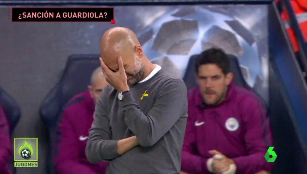 La FIFA estudia sancionar a Guardiola por el 'lazo amarillo'