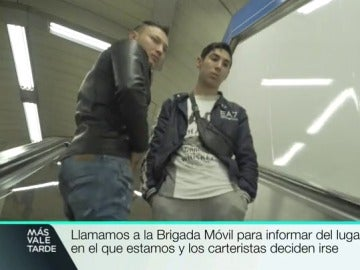 Dos carteristas en el Metro de Madrid
