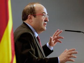 Miquel Iceta en un acto electoral