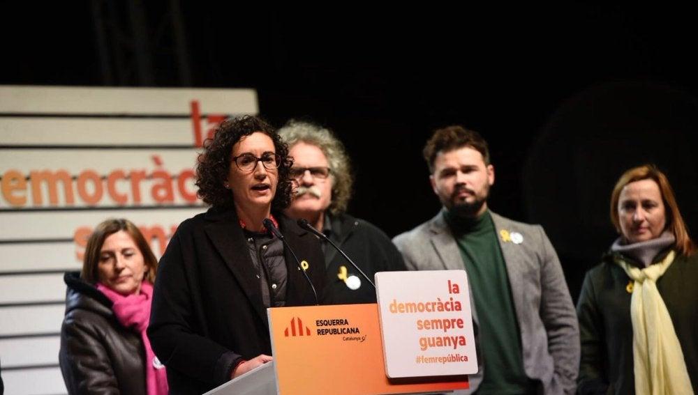 La candidata de ERC en las elecciones del 21D Marta Rovira