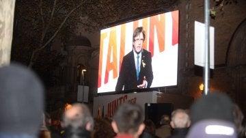 El president de la Generalitat cesado, Carles Puigdemont