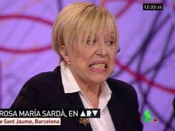 Rosa María Sardà, durante su entrevista en ARV