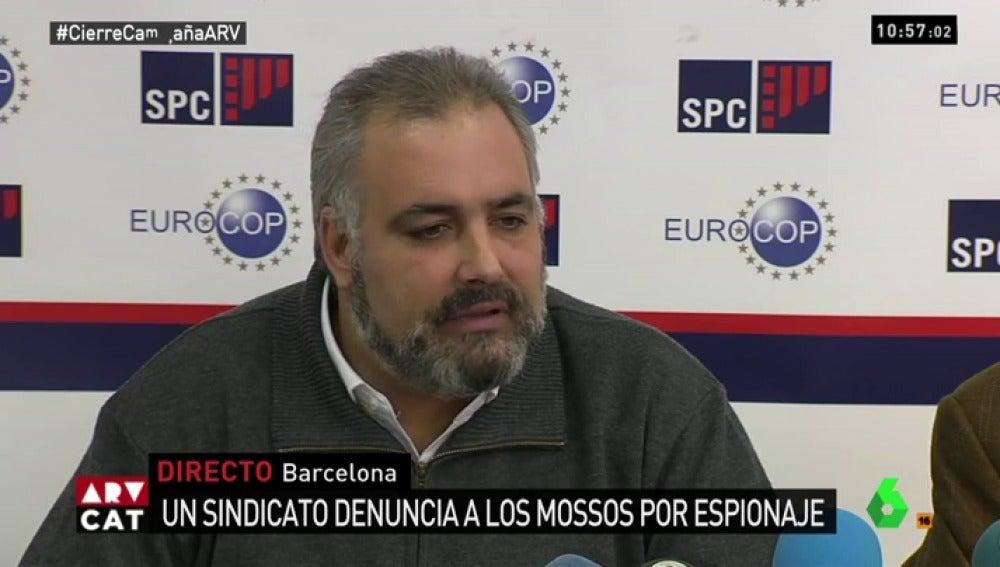 David José Mañas, secretario general del Sindicato de policías de Cataluña