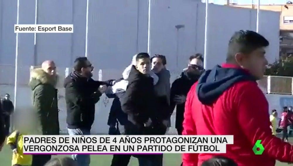 pelea padres futbol