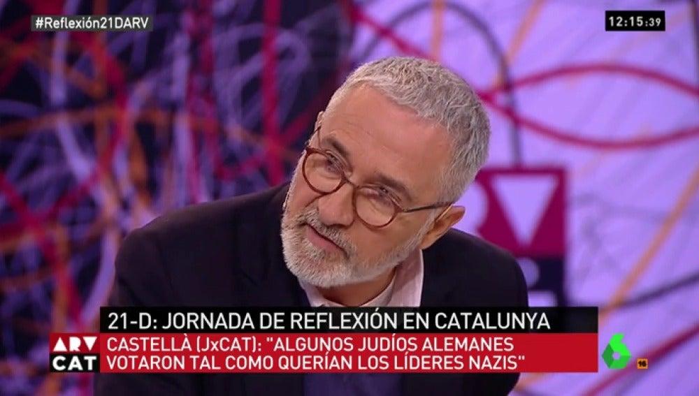 Xavier Sardà, durante su intervención en ARV