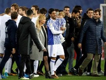 Carlos Vela, el día de su despedida con la Real Sociedad