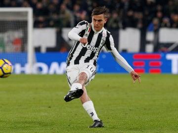 Dybala, en un partido con la Juventus