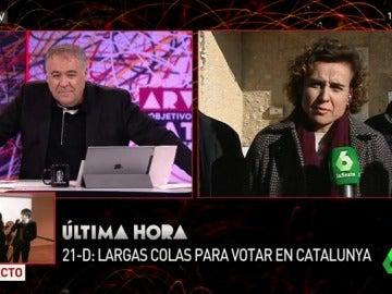 Dolors Montserrat, durante su entrevista en ARV